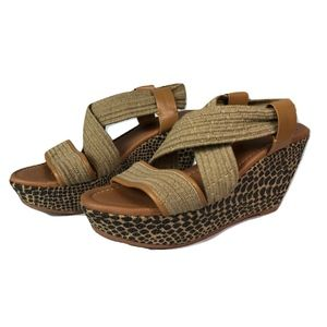Lucky Brand Strappy Wedge Sandals